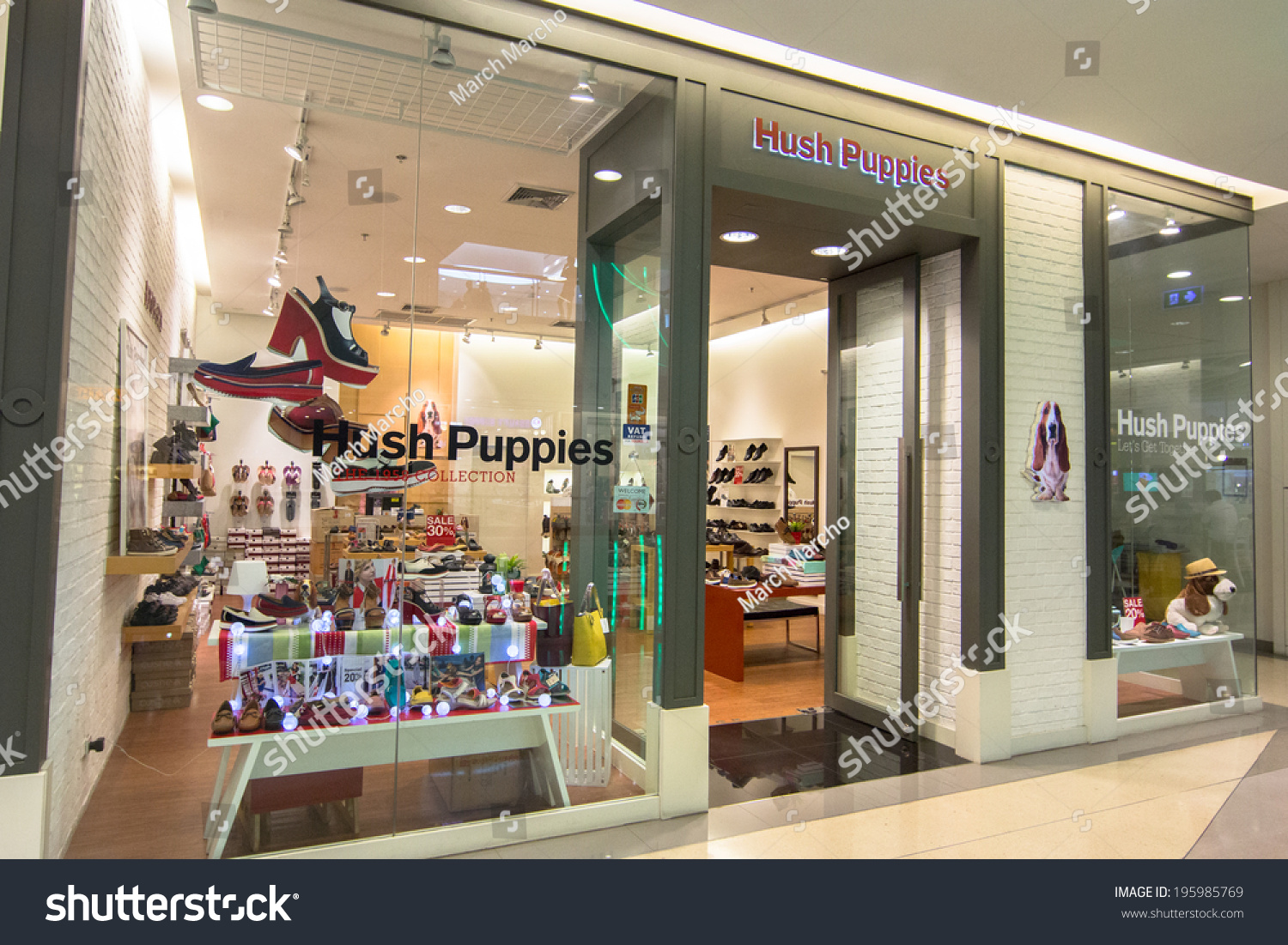 bangkok may 29 hush puppies store stock photo 195985769 shutterstock. Black Bedroom Furniture Sets. Home Design Ideas