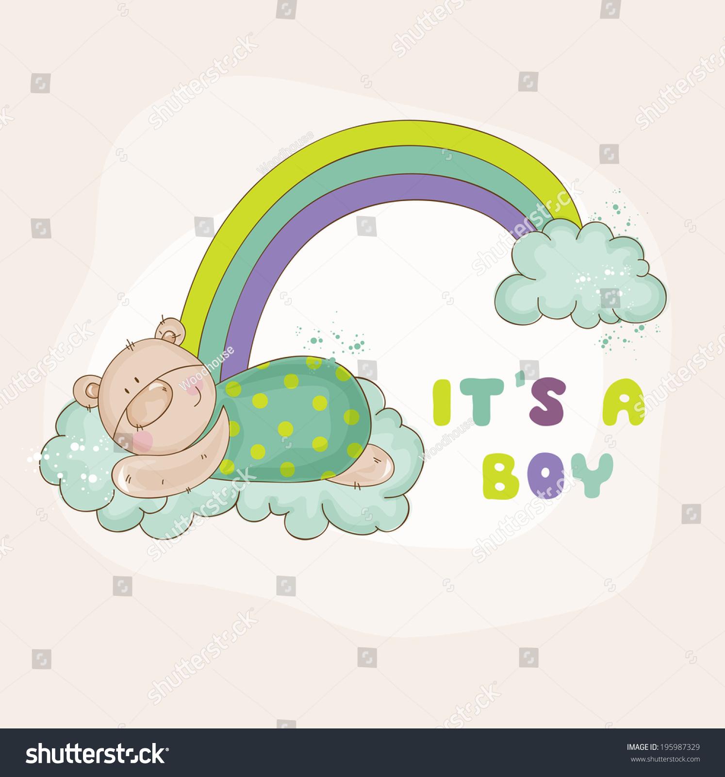 Cute Bear Rainbow Baby Shower Stock Vector Shutterstock