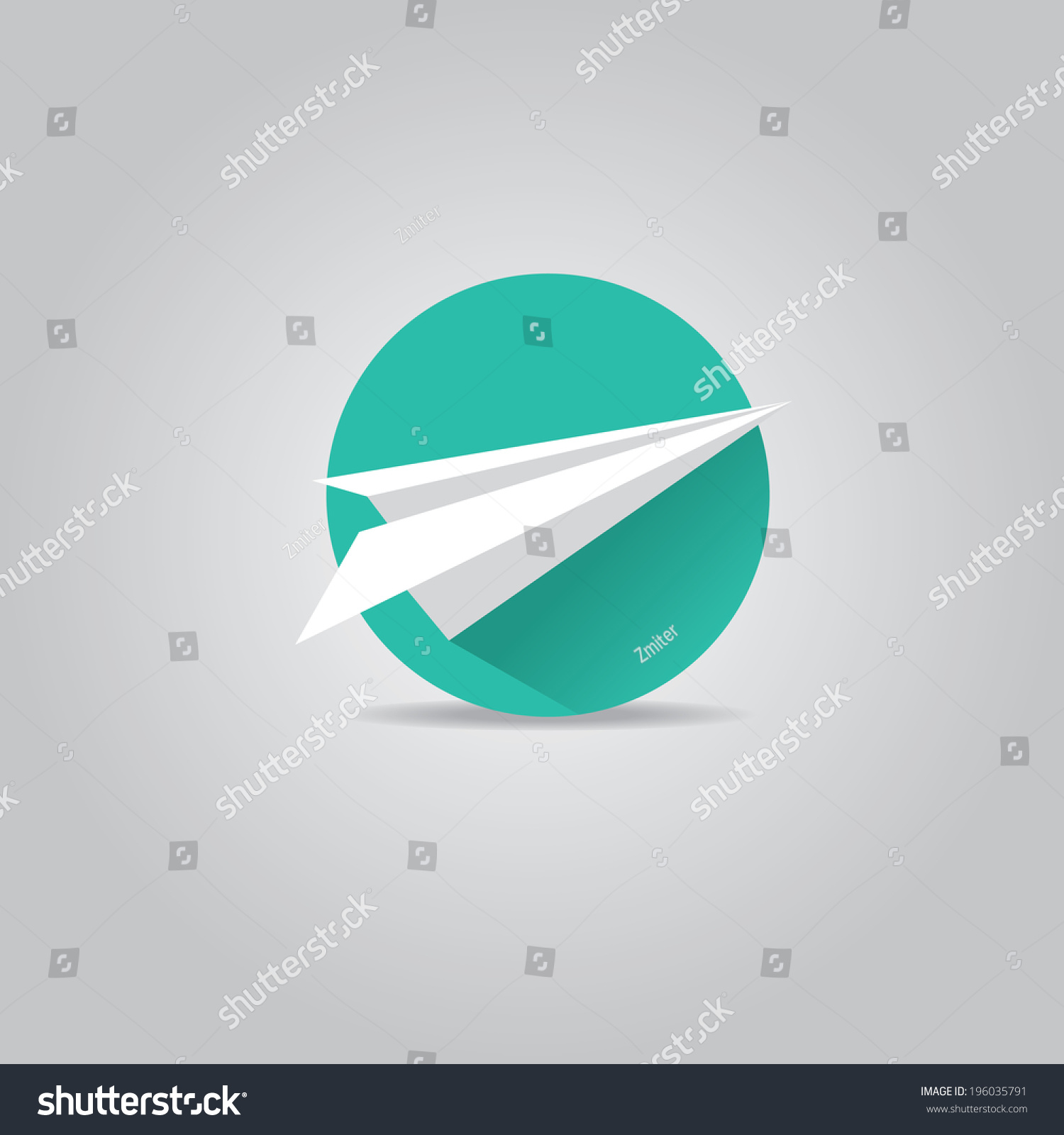Vector Paper Plane Icon Origami Airplane Stock Vector ...