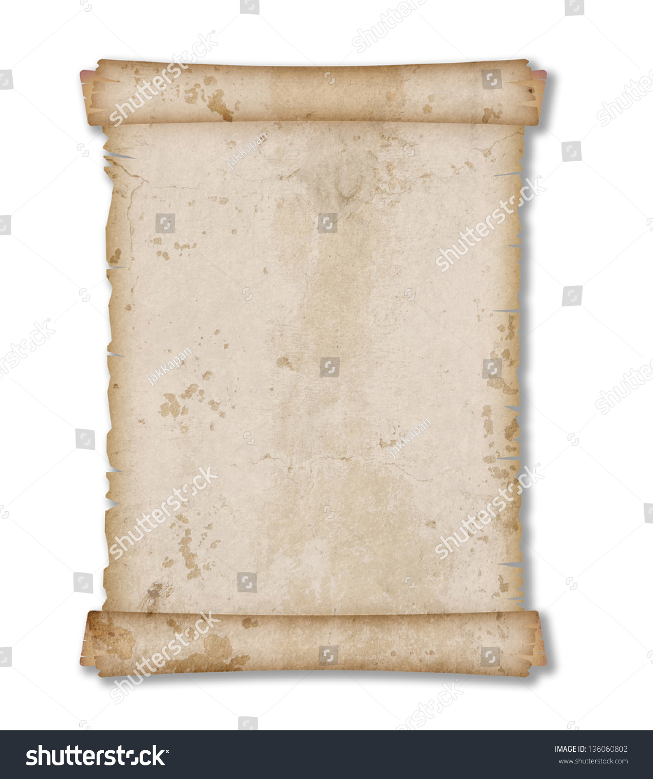 Antique Scroll Paper: Old Vintage And Grunge Paper Scroll Isolated On White