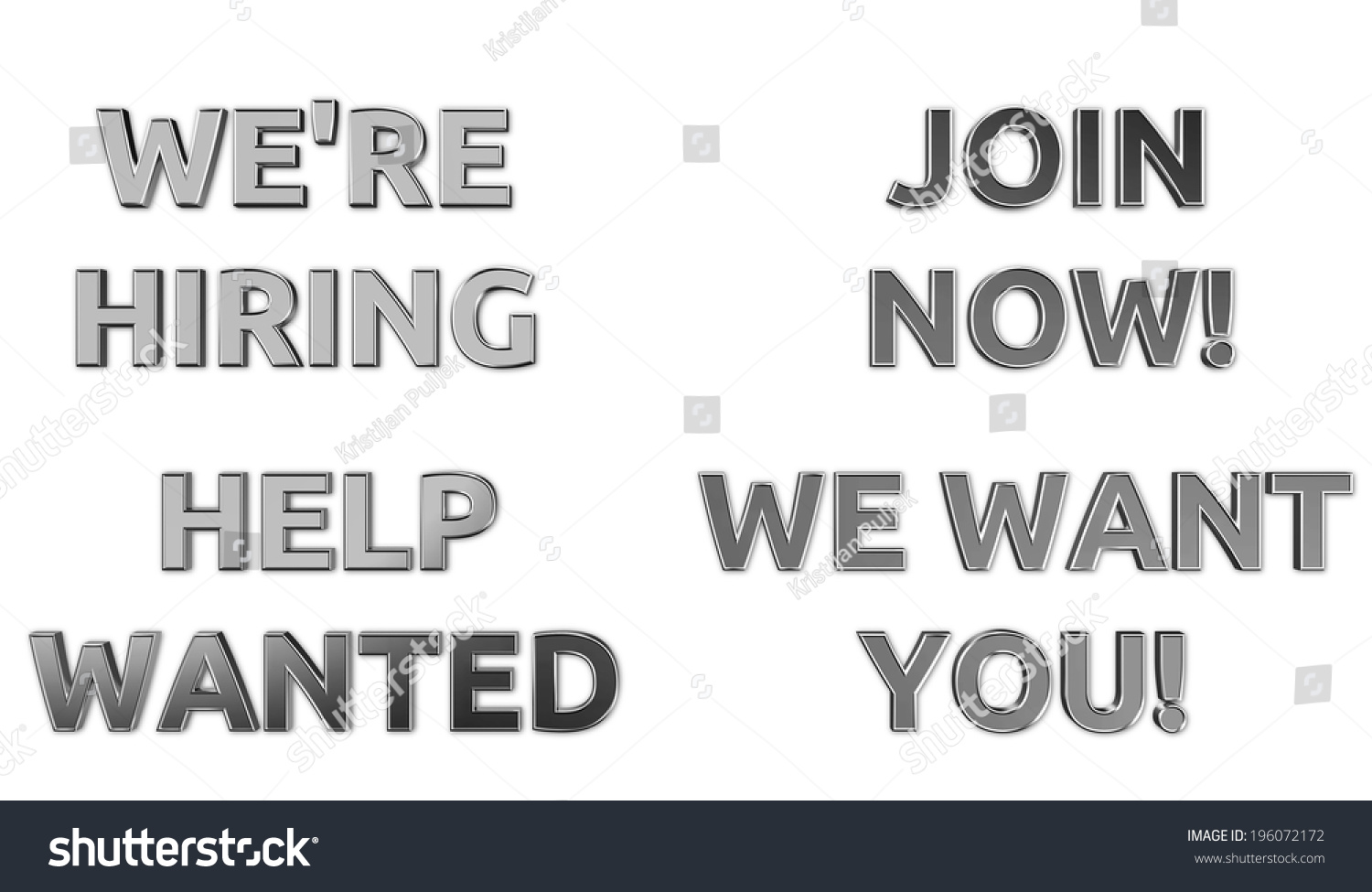 we hiring help wanted signs silver stock illustration 196072172