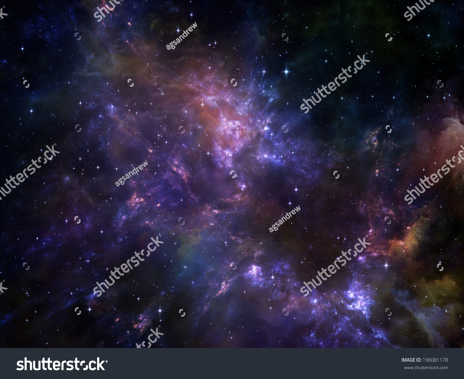 Deep Space Series Design Composed Nebula Stock ...