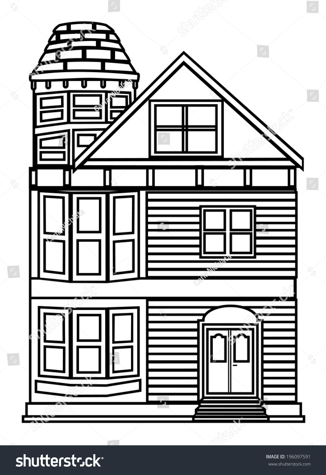 House outline picture - House Outline Vector