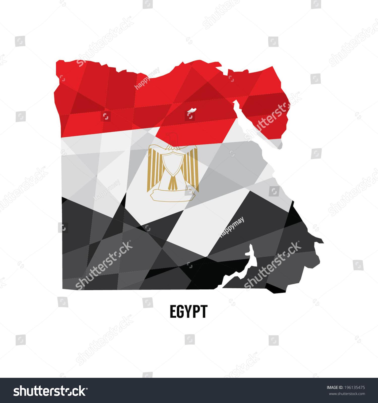 Map Egypt Vector Illustration Stock Vector Shutterstock - Map of egypt vector free