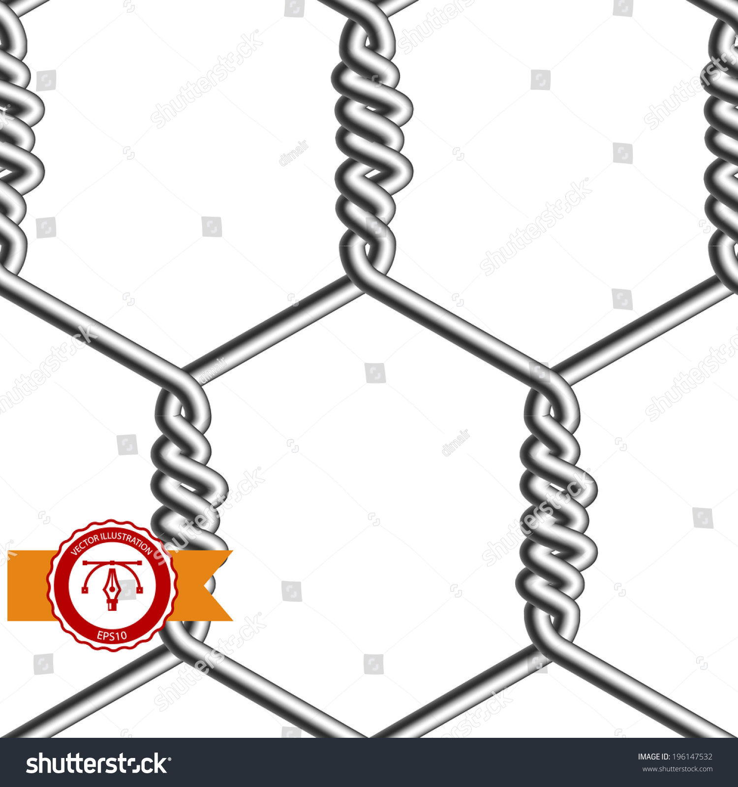 Seamless Chicken Wire Vector Stock Vector 196147532 - Shutterstock