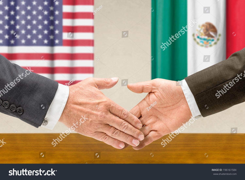 Representatives Usa Mexico Shake Hands Stock Photo Edit Now