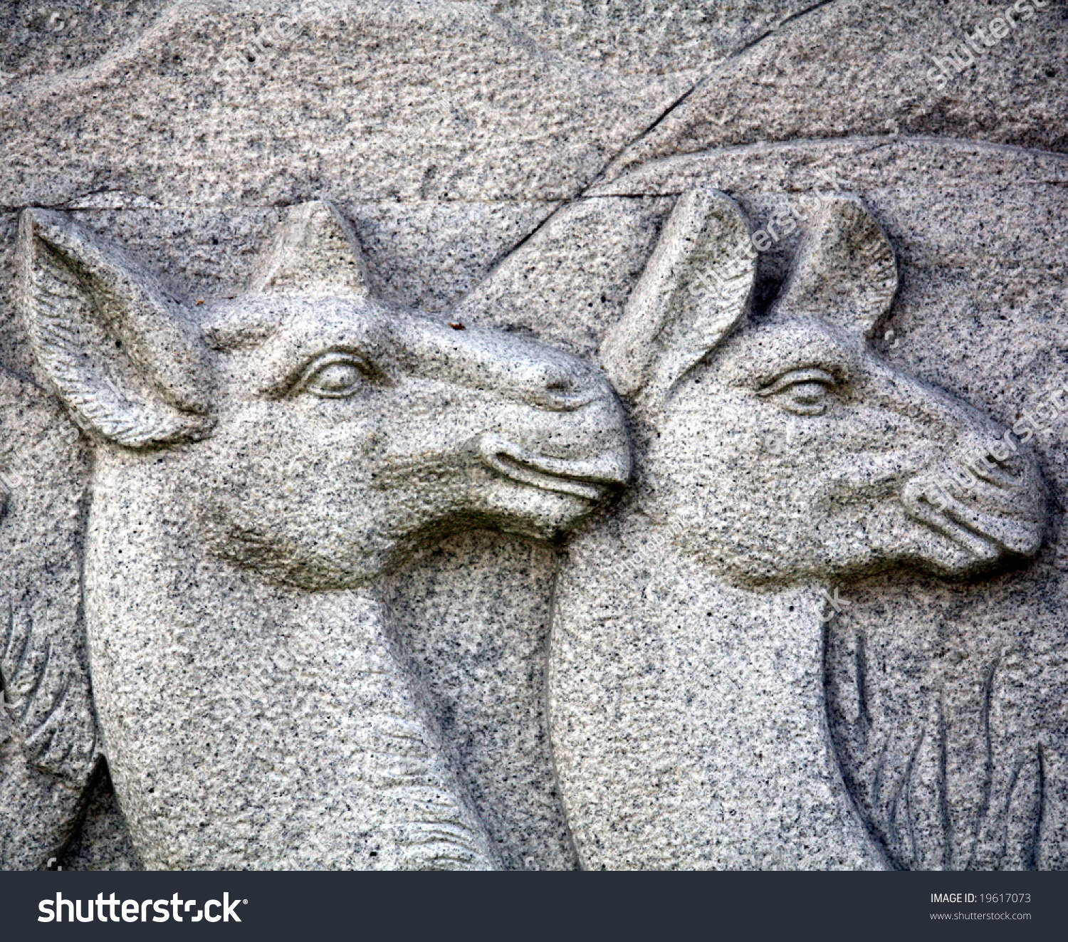 Camel stone carving sculpture stock photo