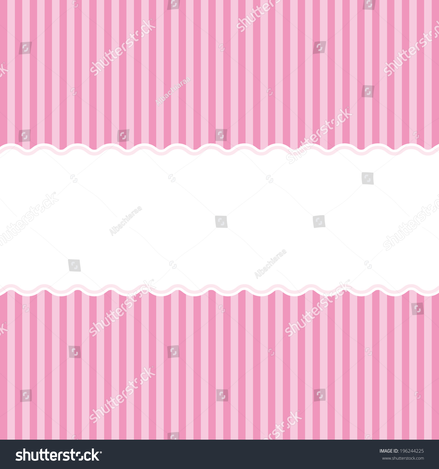 pink birth announcement or baby shower invitation card background for