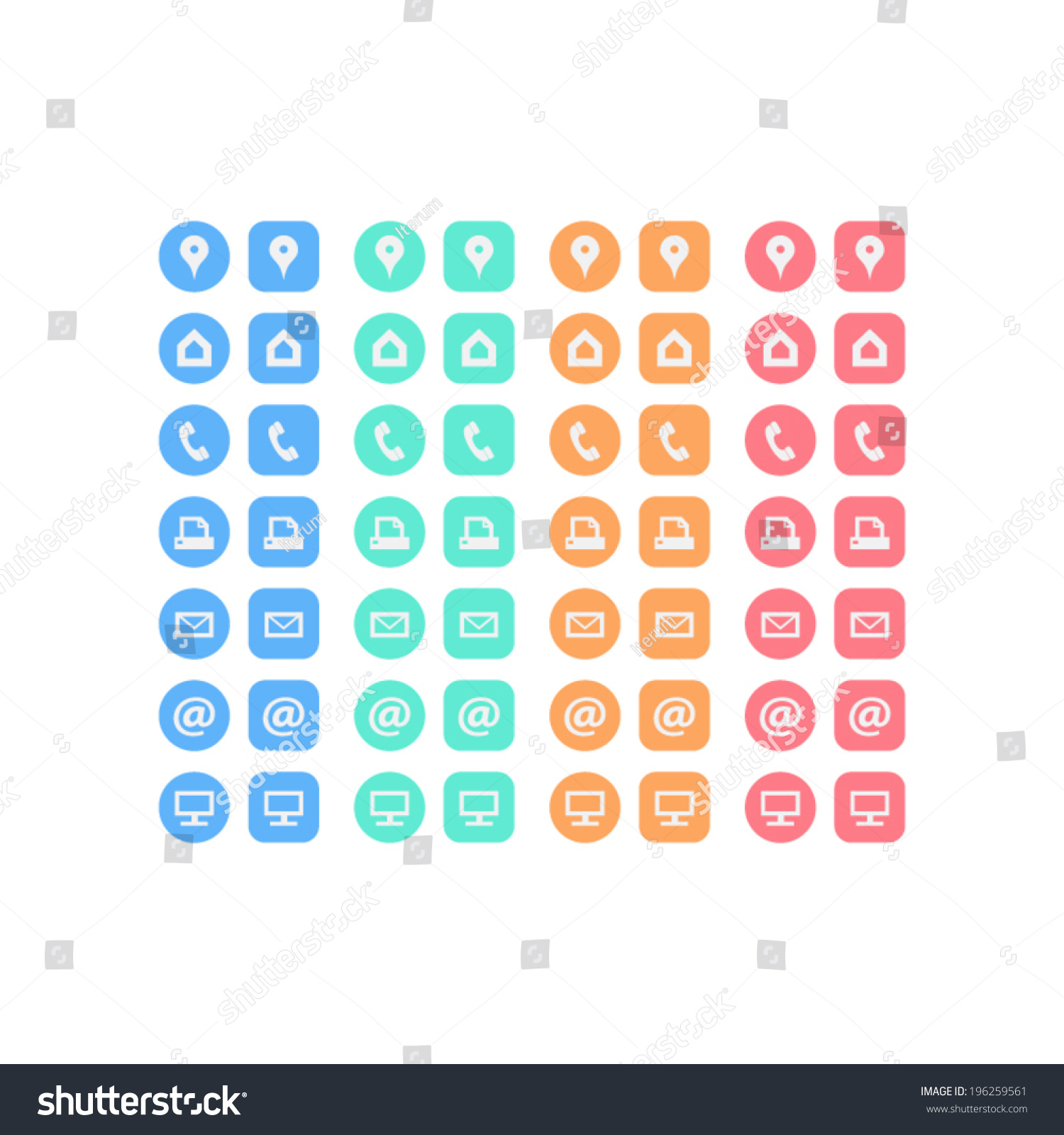 Multicolor flat multipurpose business card icon stock vector multicolor flat multipurpose business card icon set of web icons for business finance and communication magicingreecefo Gallery