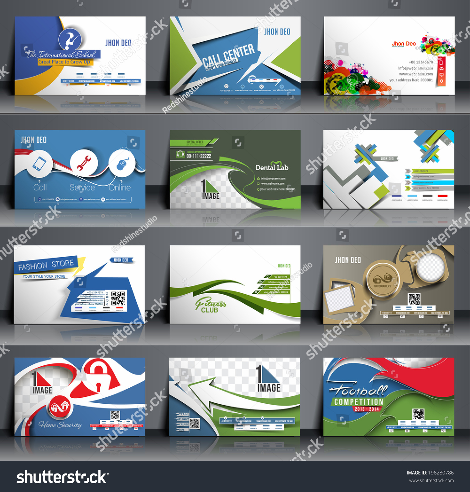 Mega Collection Business Card Template Design Stock Photo (Photo ...