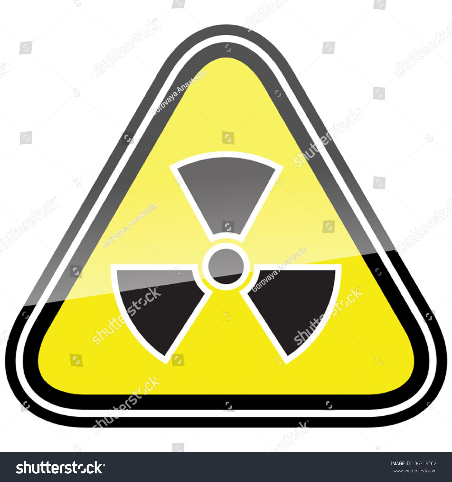 Radiation Hazard Symbol Sign Radiation Alert Stock Vector Royalty
