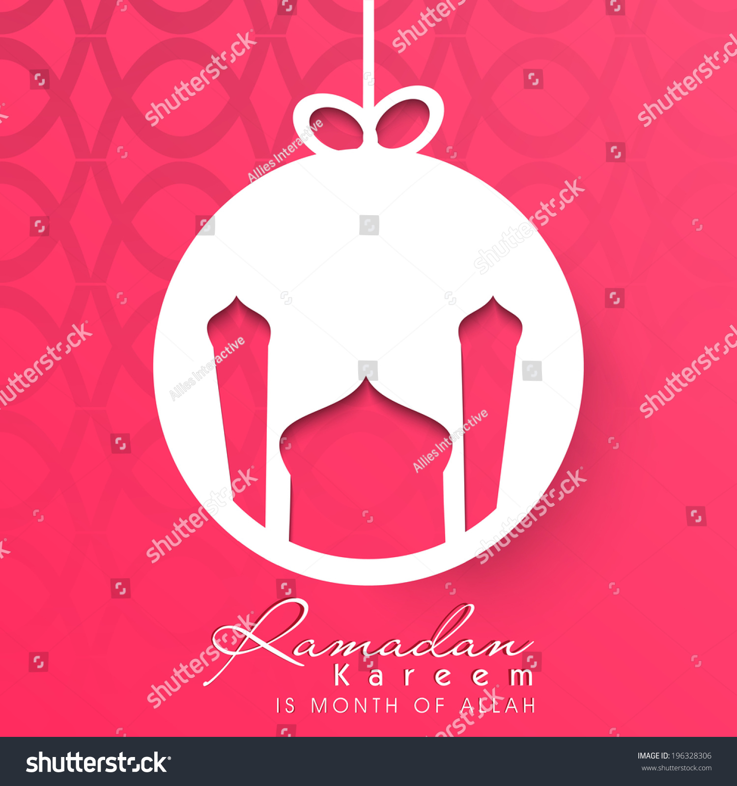H tag background image - Beautiful Hanging Sticker Tag Or Label With Mosque Design On Pink Background For Holy Month