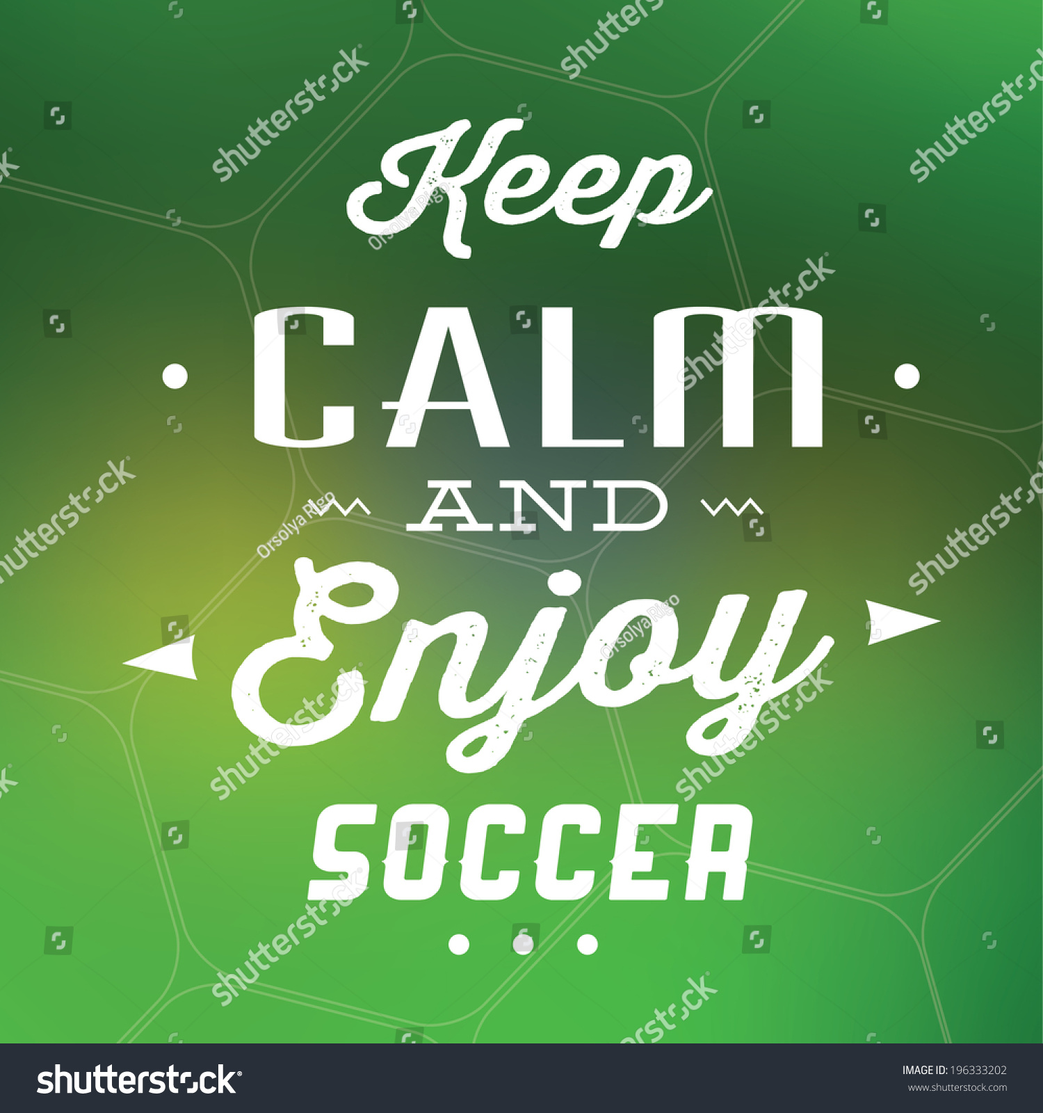 Soccer Quote Keep Calm Enjoy Soccer Quote Typographic Stock Vector 196333202