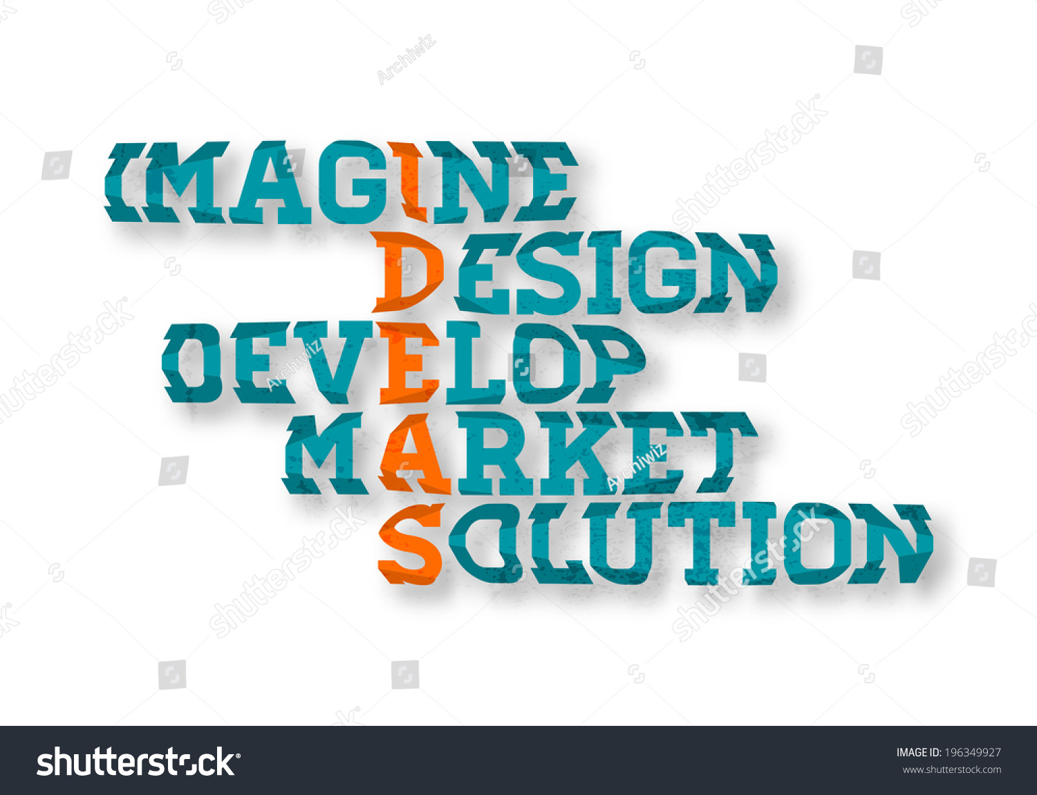 typographic business ideas crossword poster imagine design develop market solution graphic design business ideas - Graphic Design Business Ideas