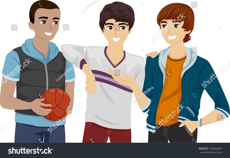 Free Illustration Teens Hanging 52