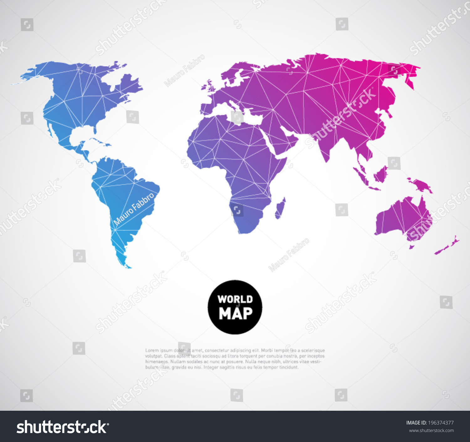 Abstract vector world map background polygonal vectores en stock abstract vector world map background with polygonal triangle style design clean and modern for gumiabroncs Gallery