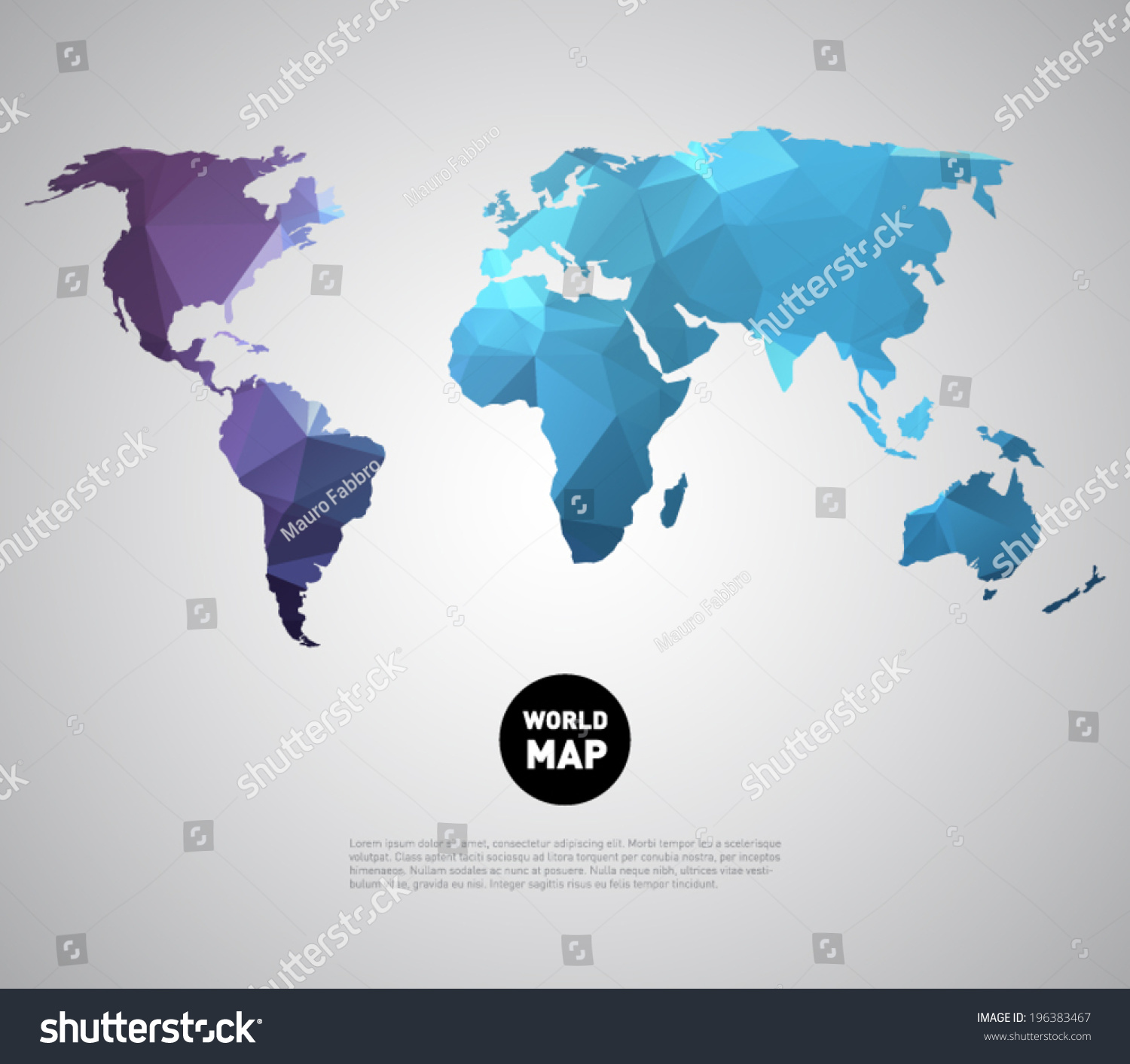 Abstract vector world map background polygonal vectores en stock abstract vector world map background with polygonal triangle style design clean and modern for gumiabroncs Image collections