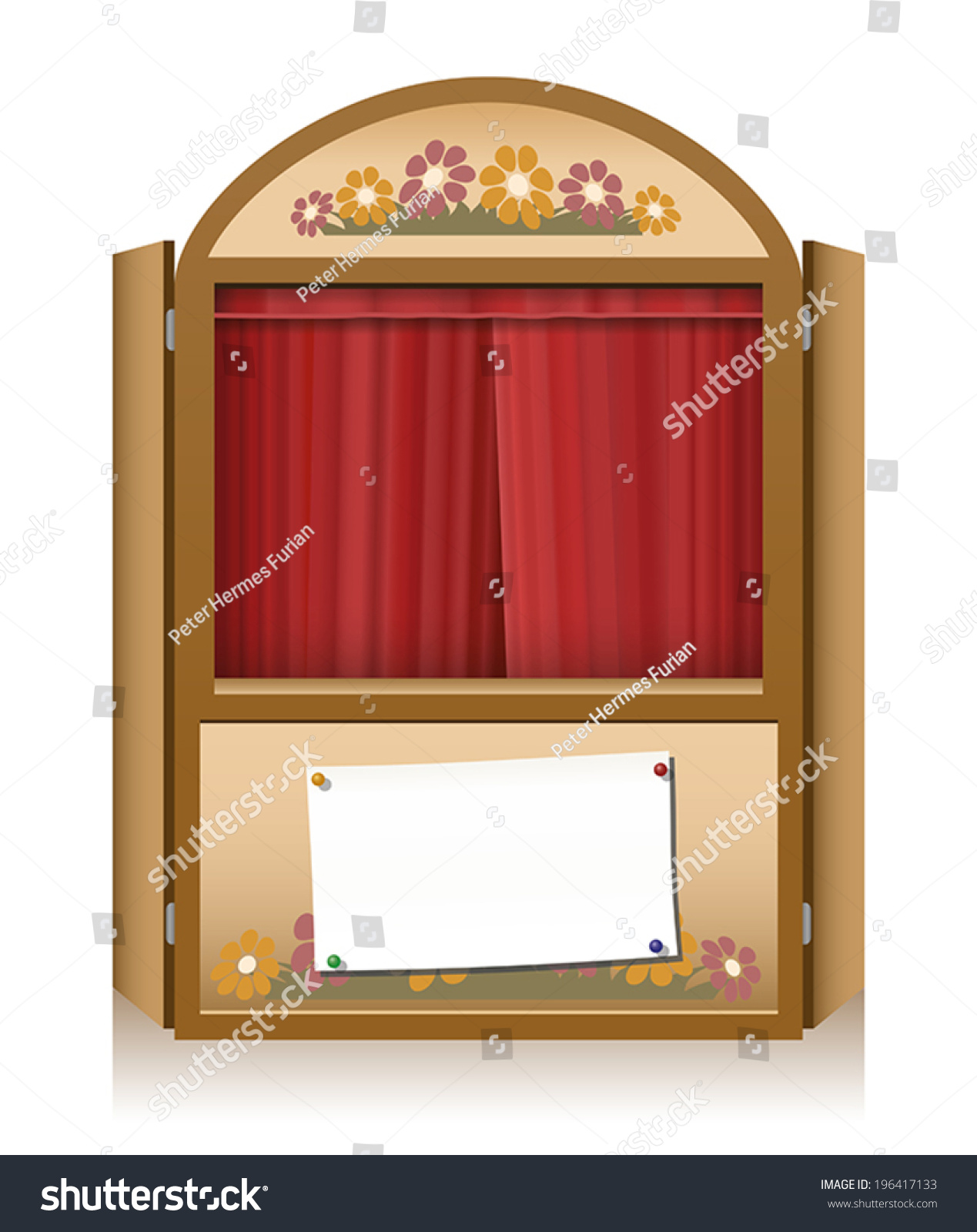 Wooden punch and judy booth with closed red curtain and a blank staging announcement banner  sc 1 st  Shutterstock & Wooden Punch Judy Booth Closed Red Stock Vector 196417133 ...
