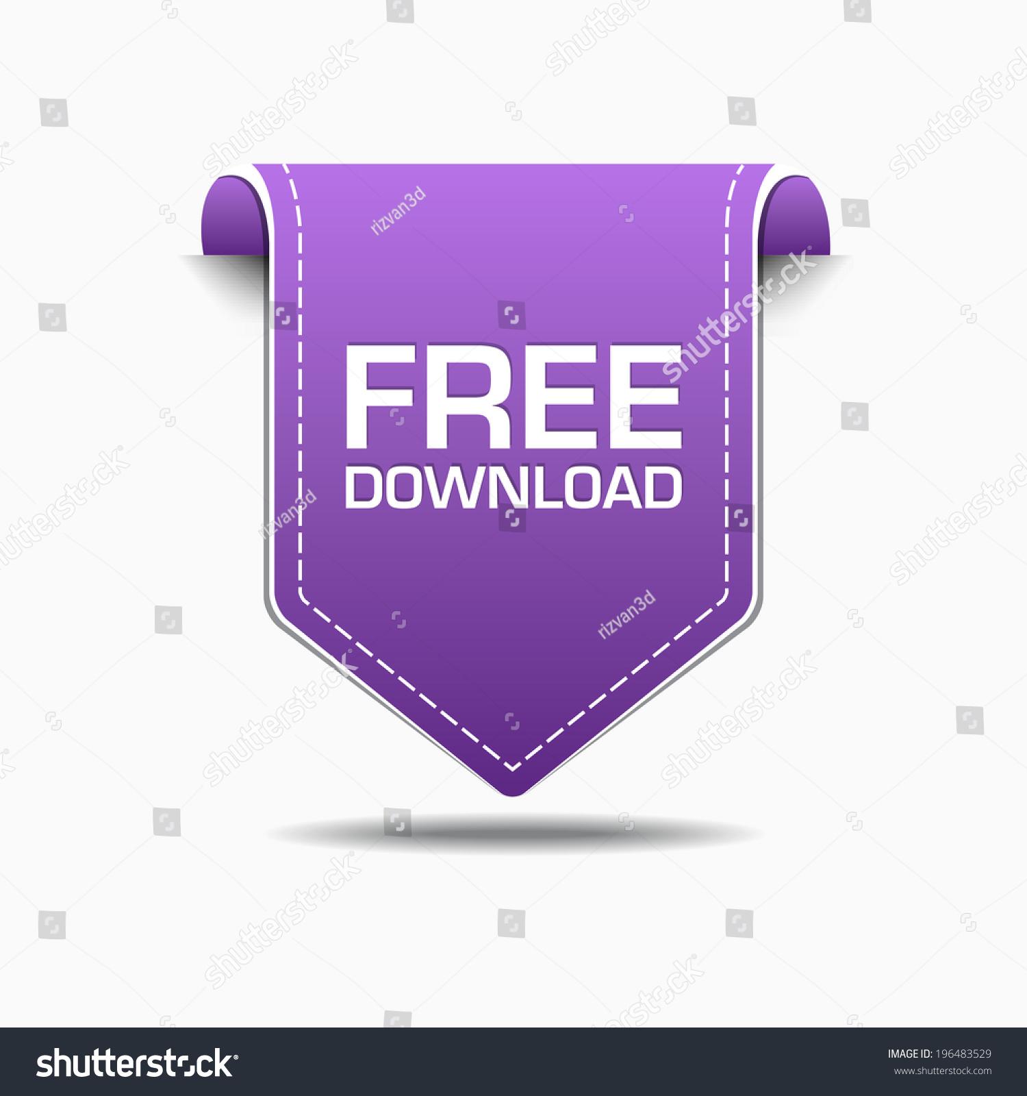 Free Download Purple Label Icon Vector Stock Vector 196483529 ...