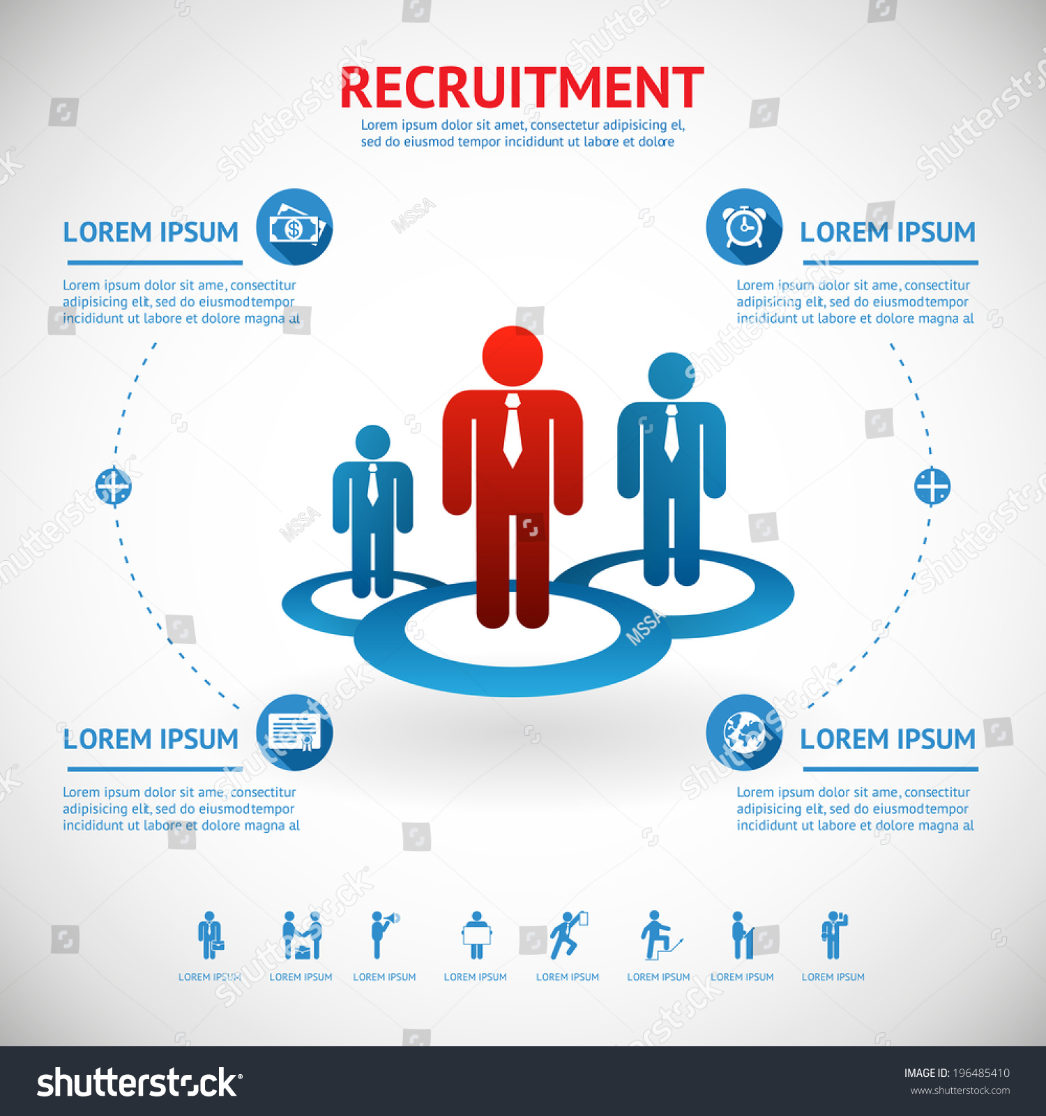 Recruitment Human Resource Infographics Template Space Stock