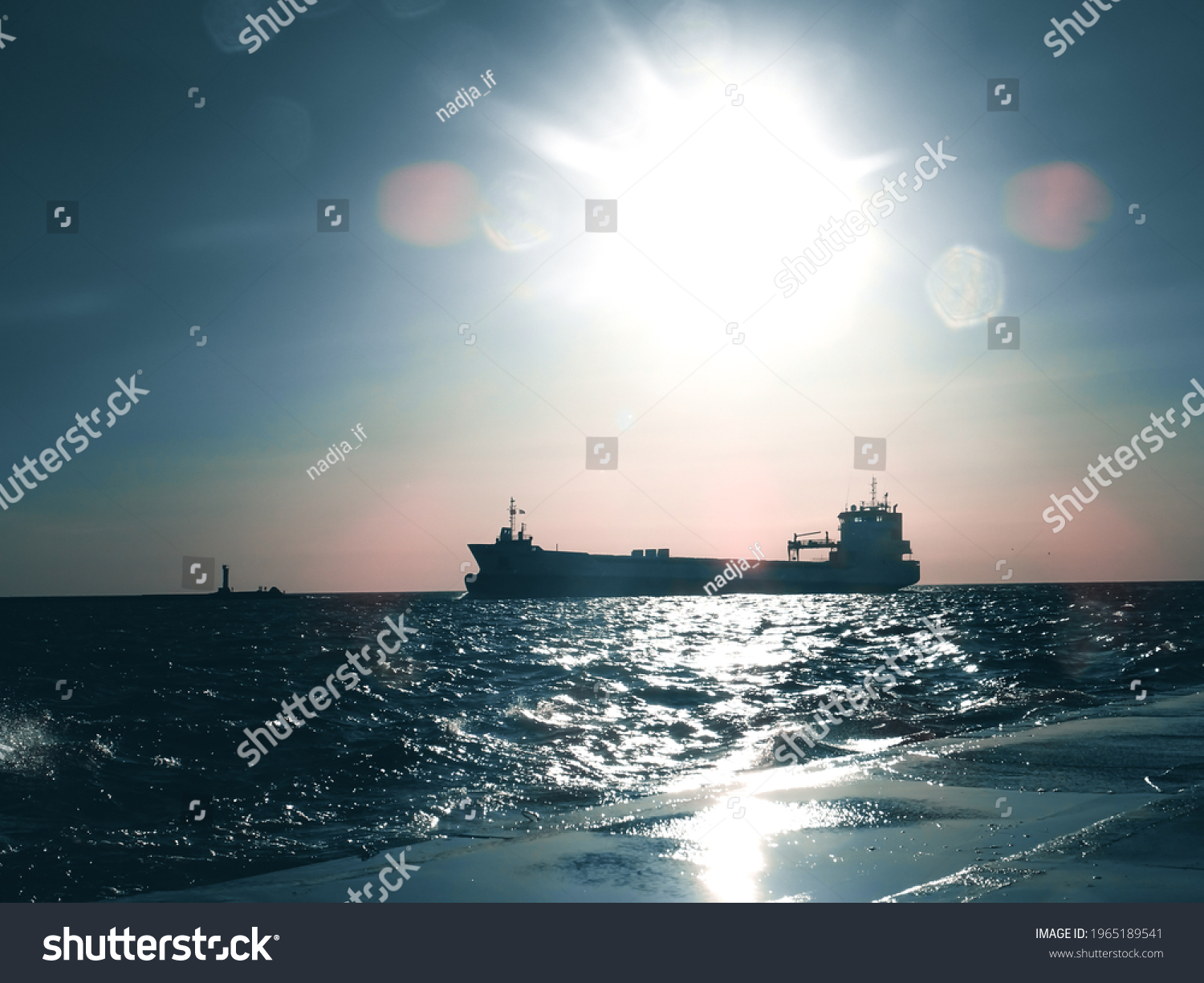 ships on sea during sunset #1965189541