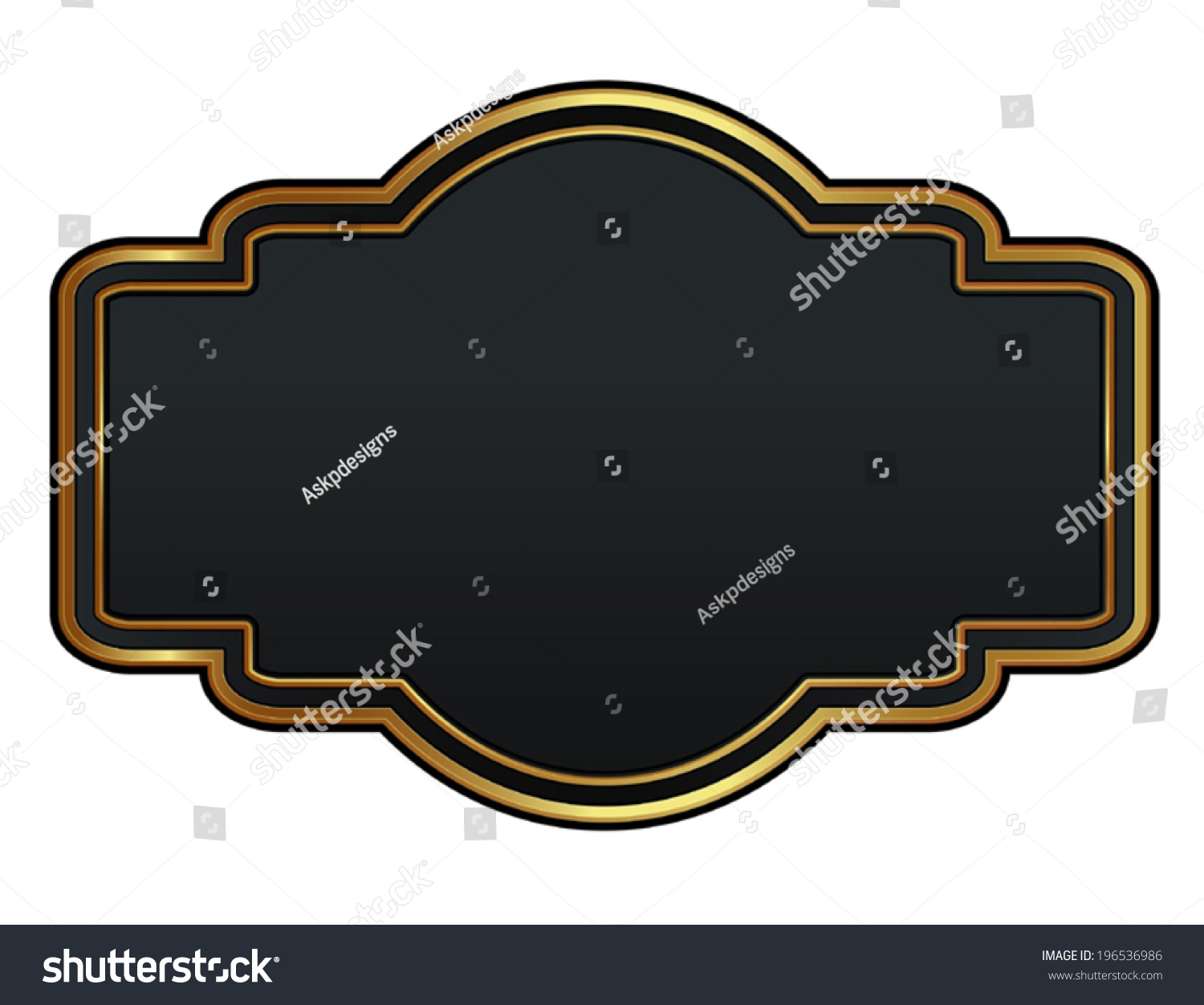 black gold quality labels easy edit stock vector 196536986