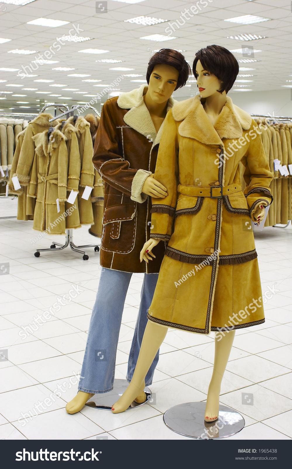 Mannequin Magazine On Sale Winter Clothing Stock Photo ...