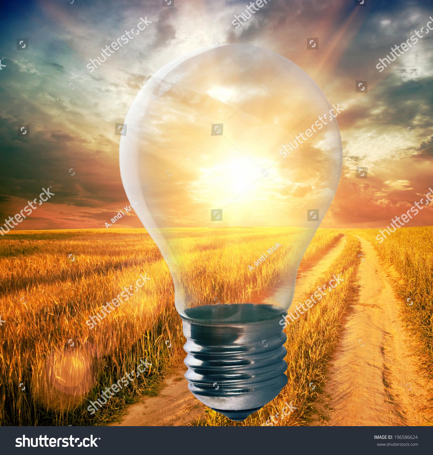 Stadium Lights Light Bulb: Light Bulb Sunshine Inside Field Environment Stock Photo
