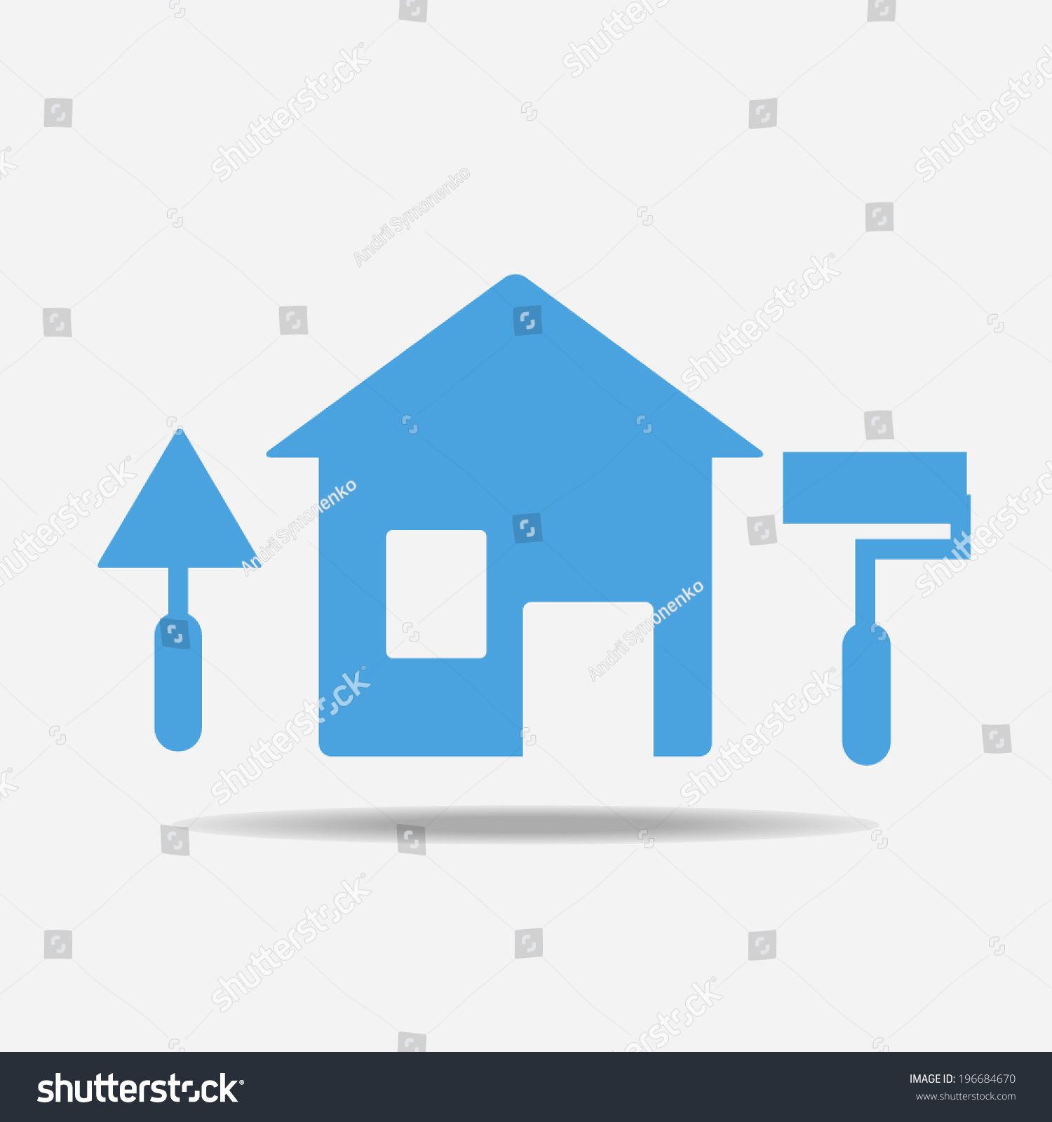 House Remodeling Icon Stock Vector Royalty Free 196684670