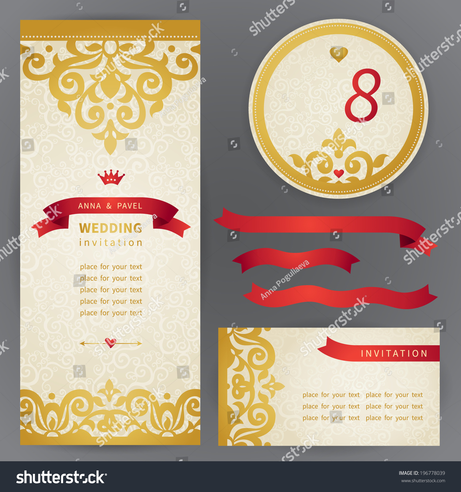 Elegant designs of congratulation cards