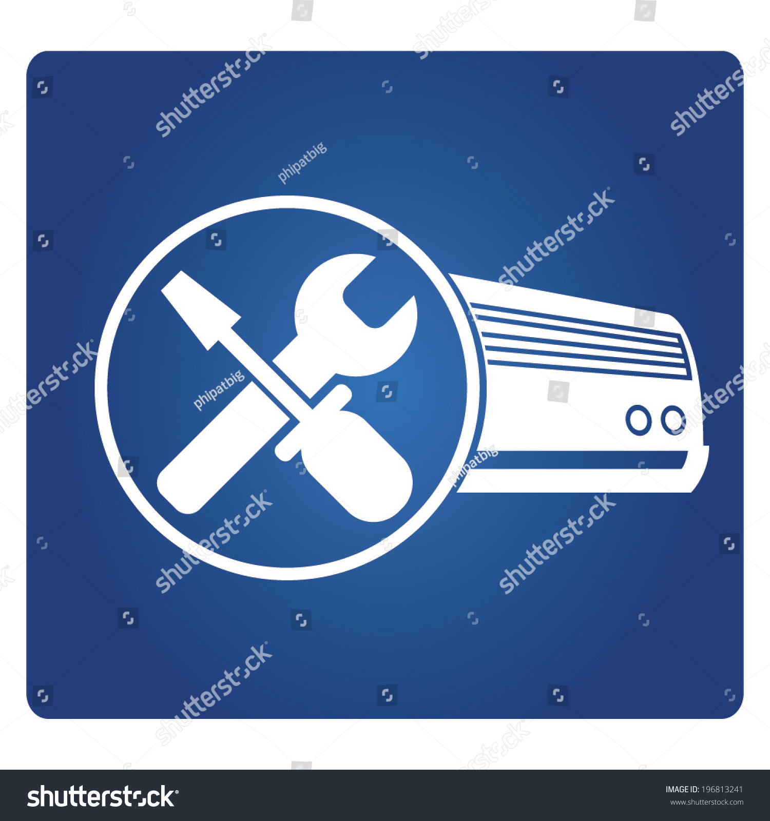 Air Conditioner Service Stock Vector Illustration 196813241  #214482