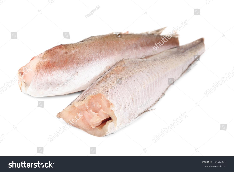Frozen fish hake isolation on white stock photo 196818341 for Baking frozen fish