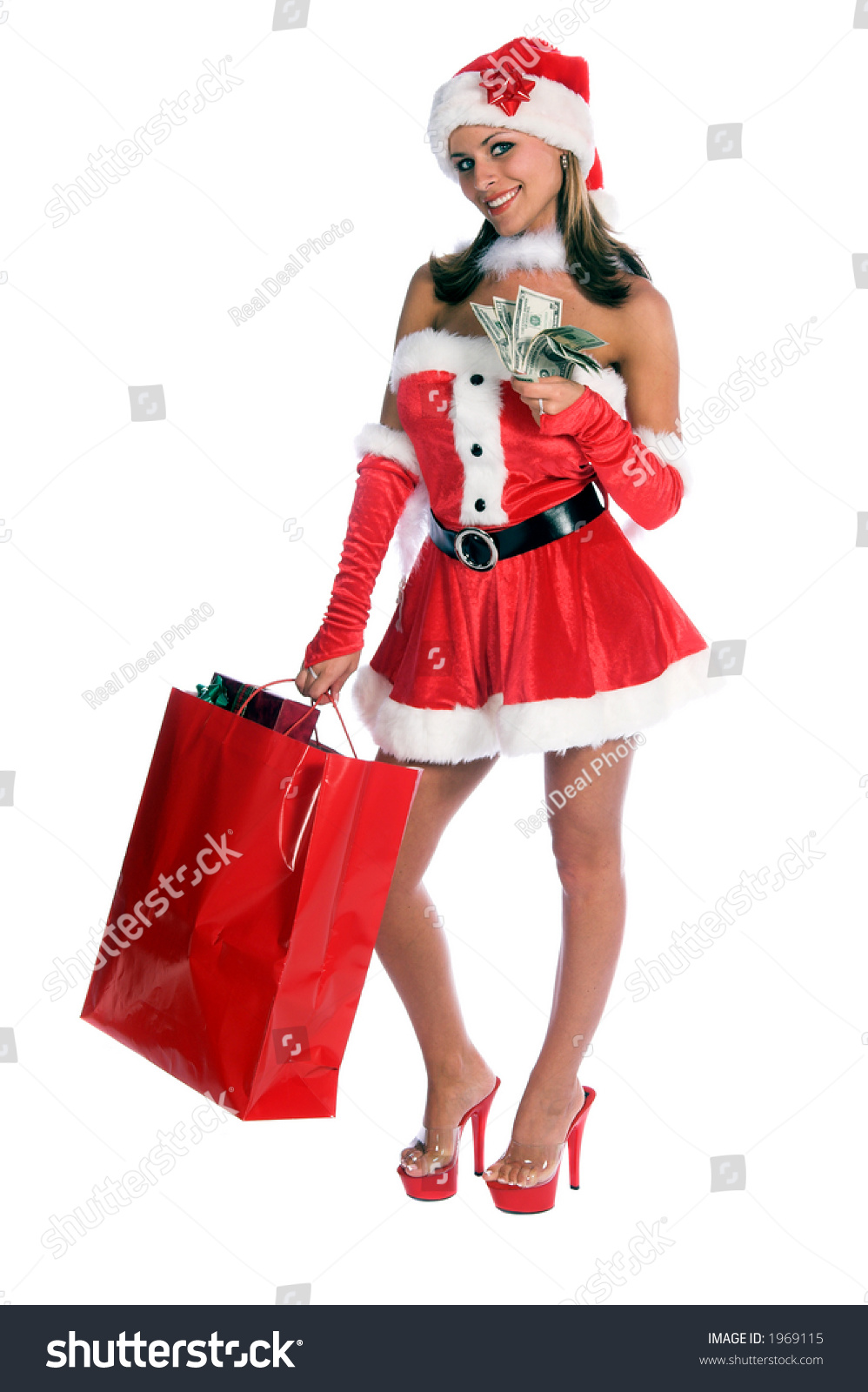 mrs santa claus isolated over stock photo 1969115 shutterstock