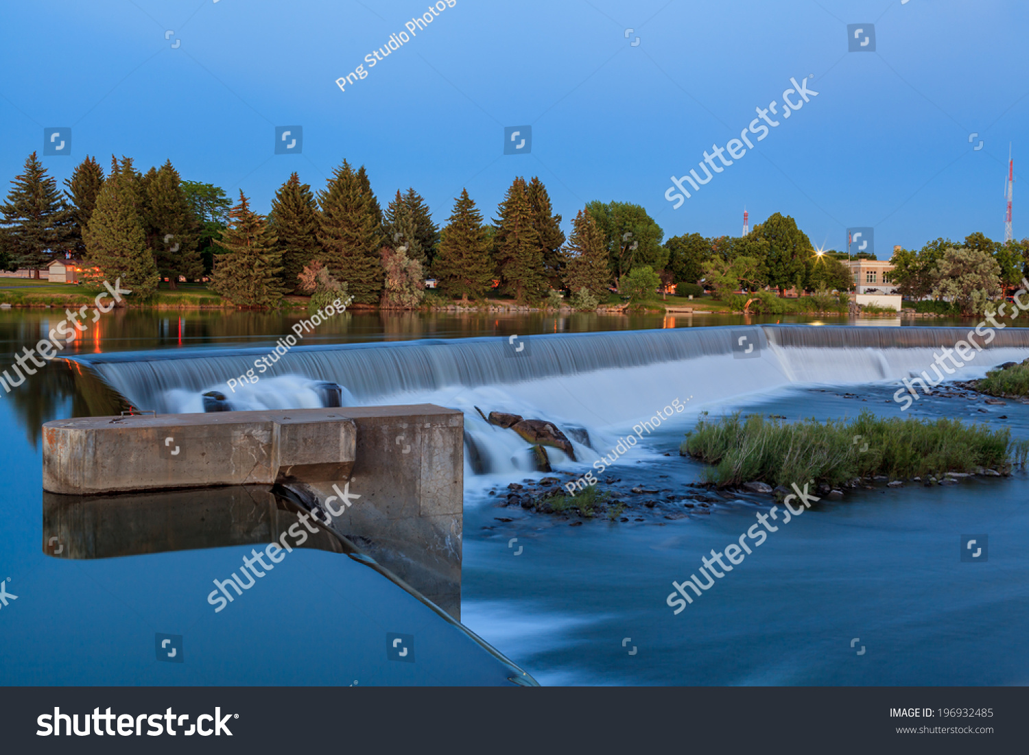 Wide Waterfall On Snake River Idaho Stock Photo Edit Now 196932485