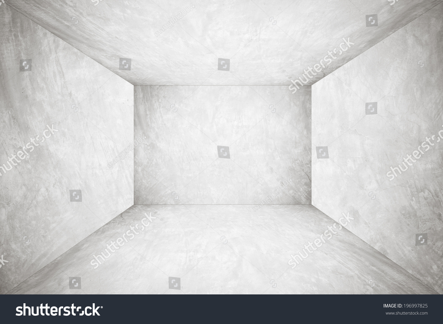 empty cement room perspective background template stock photo 196997825 shutterstock. Black Bedroom Furniture Sets. Home Design Ideas