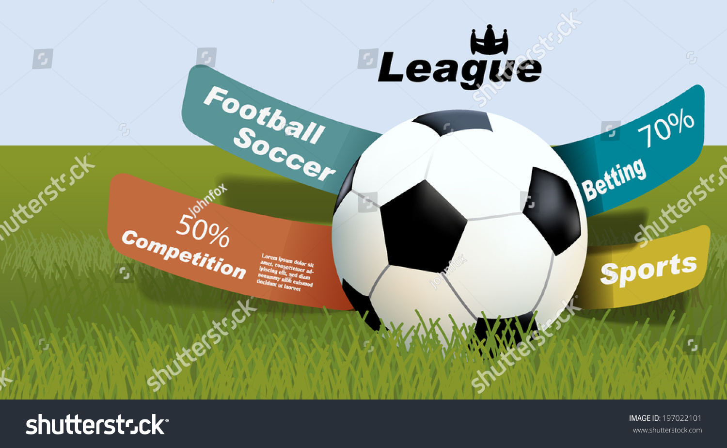 Sports Betting Statistics Football Betting Leagues Stock Vector (Royalty  Free) 197022101