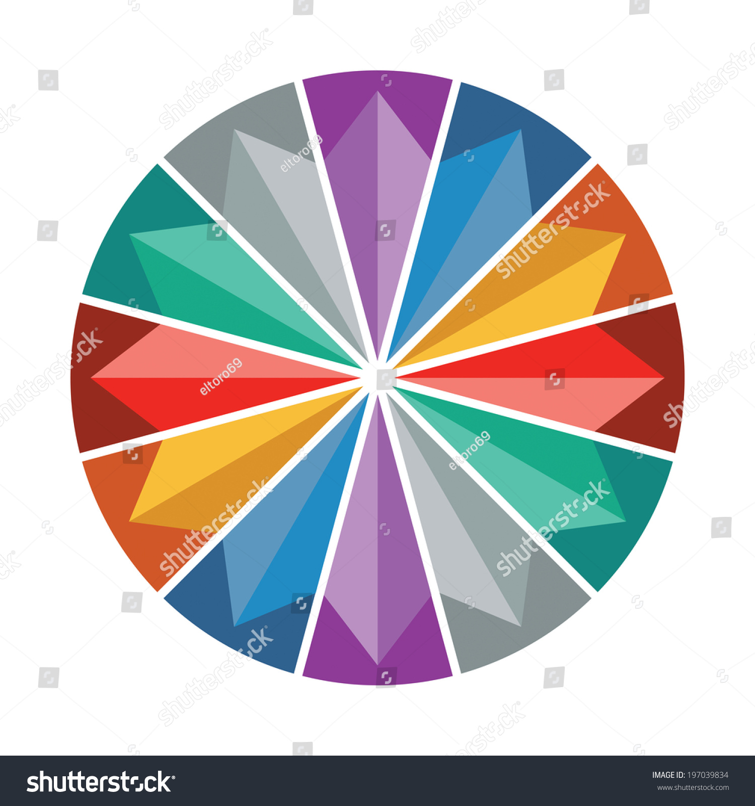 Color Wheel Presentation Template Color Circle Stock Vector (2018 ...