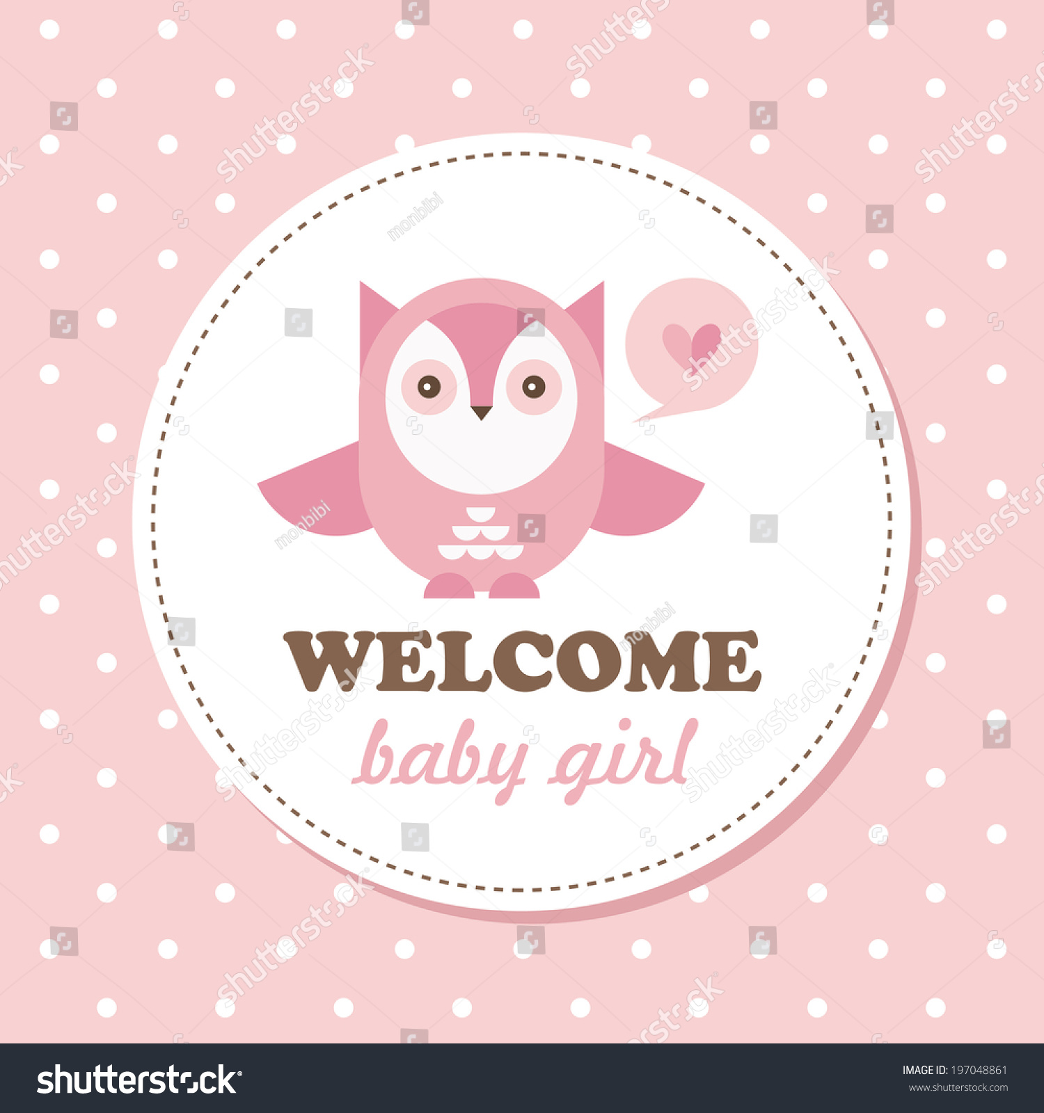 Welcome Baby Card Vector Illustration Stock Vector 197048861 ...
