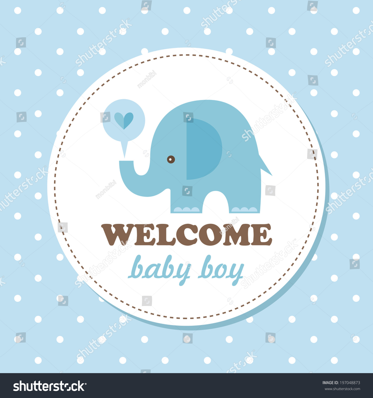 welcome baby card vector illustration stock vector royalty free