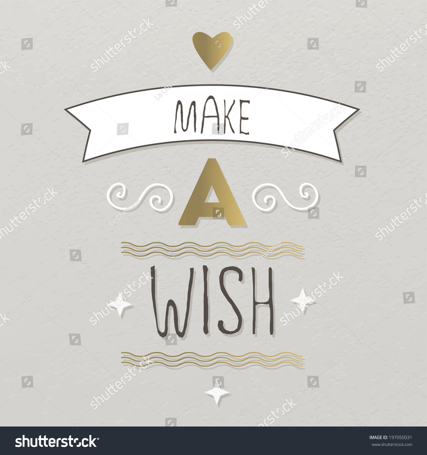 Make A Wish Quotes Birthday Card Make Wish Quote Typographical Stock Vector 197050031