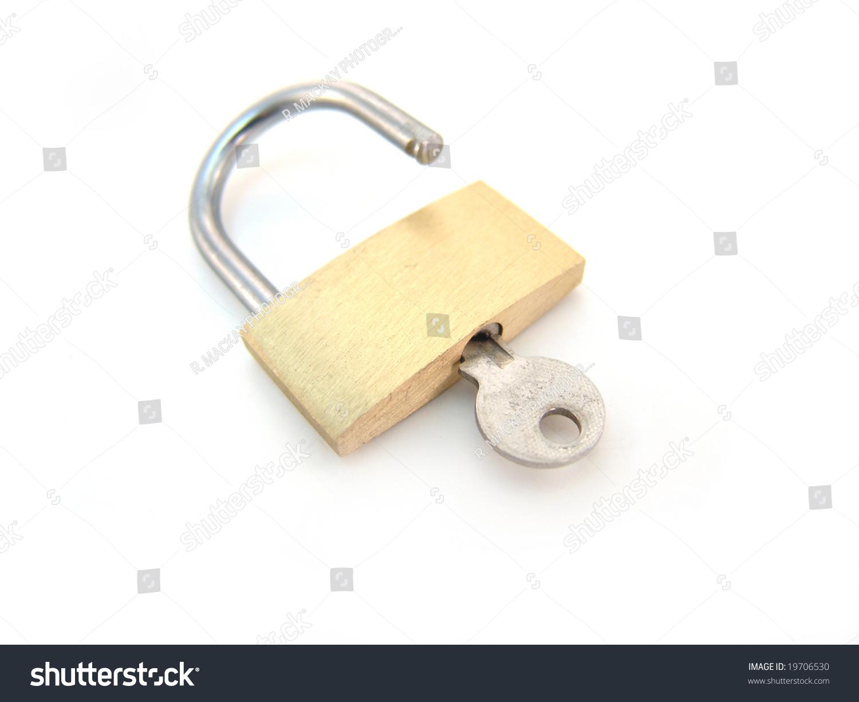 brass padlock key unlocked ez canvas