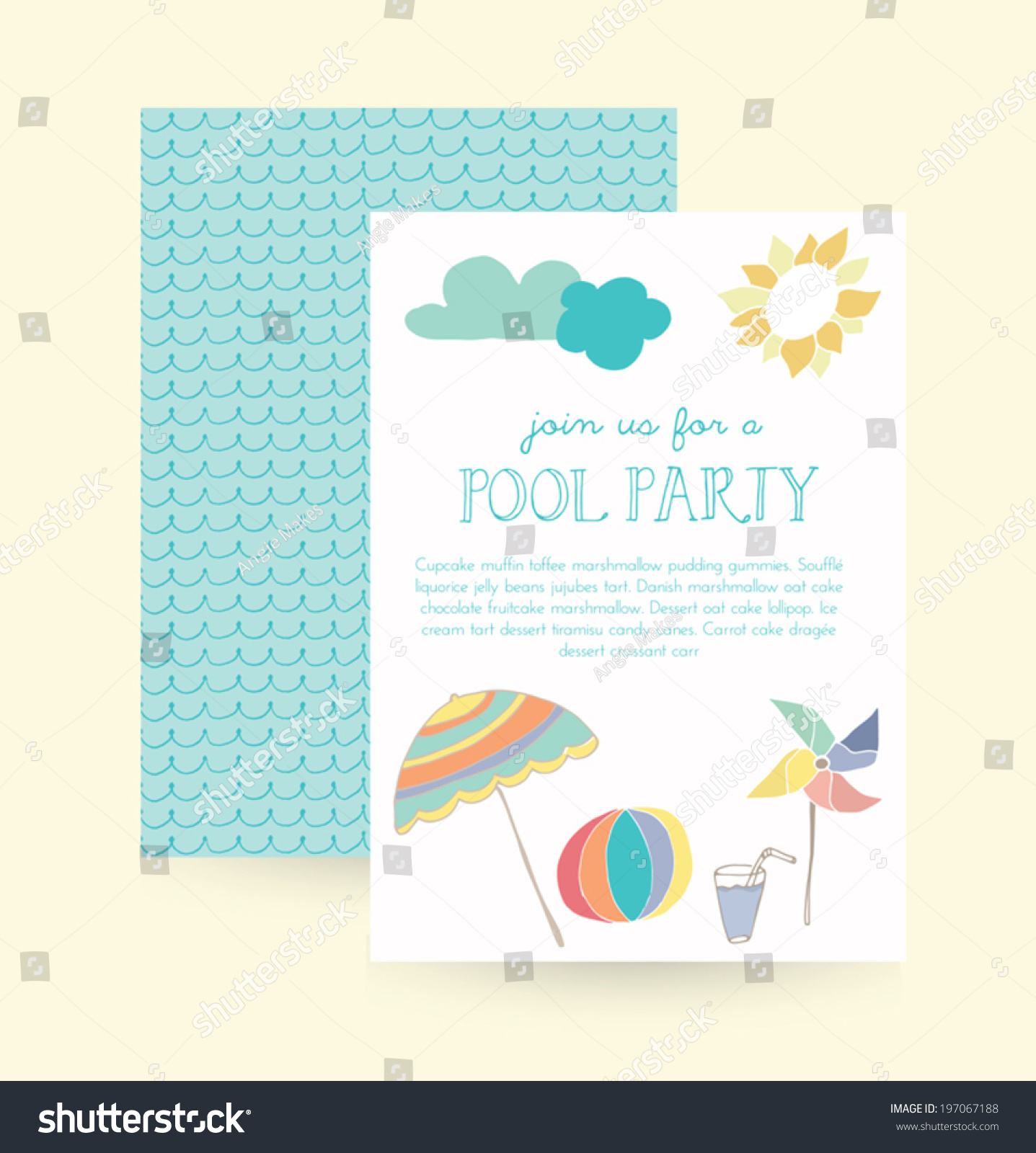 Summer Party Invitation Pool Party Invitation Vector – Summer Party Invitations Templates
