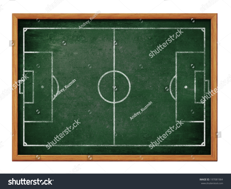 Blackboard Soccer Team Formation Drawing Football Stock Illustration