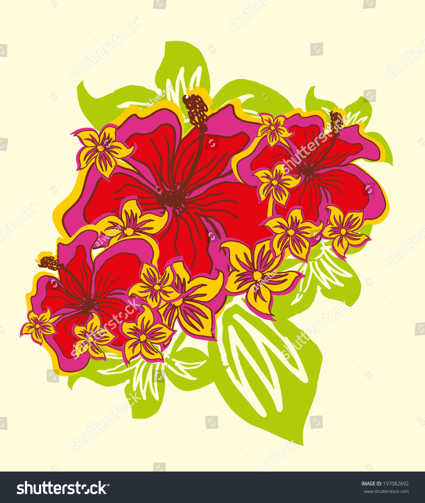 Hibiscus flower pattern vector art stock photo photo vector hibiscus flower pattern vector art izmirmasajfo