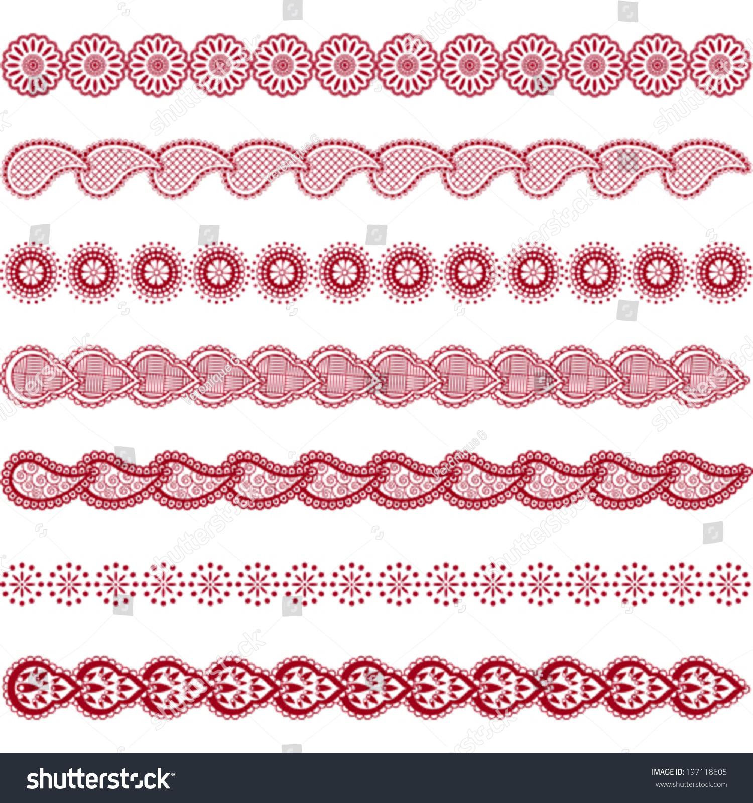 Set Border Designs Indian Traditional Henna Stock Vector ... | 1500 x 1600 jpeg 984kB