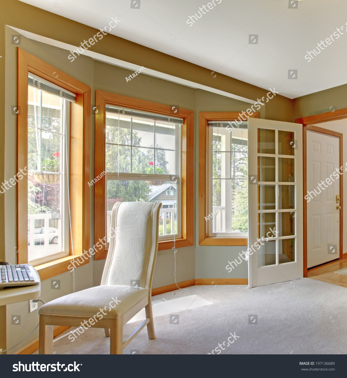 House interior open floor plan view stock photo 197136689 for Open floor plans with a view