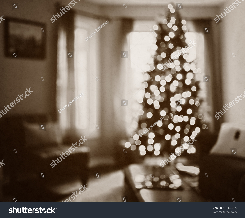 Newman Christmas Trees.Single Christmas Tree Small Lights Front Stock Photo Edit