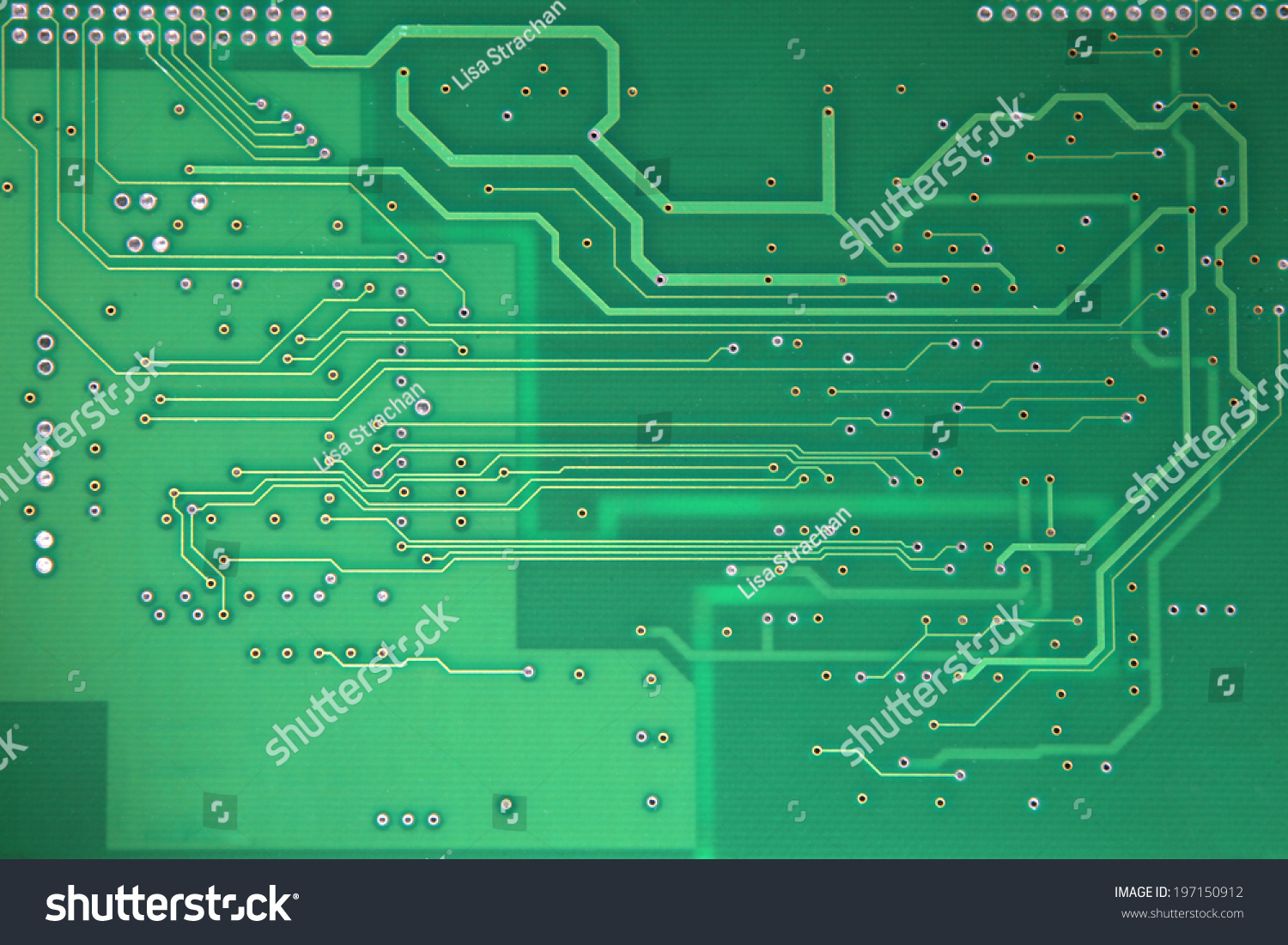 Bare Printed Circuit Board Pcb Green Stock Photo Edit Now Buy Home Theater Boardcircuit Boards Orderpcb In Resist Undergoing Inspection