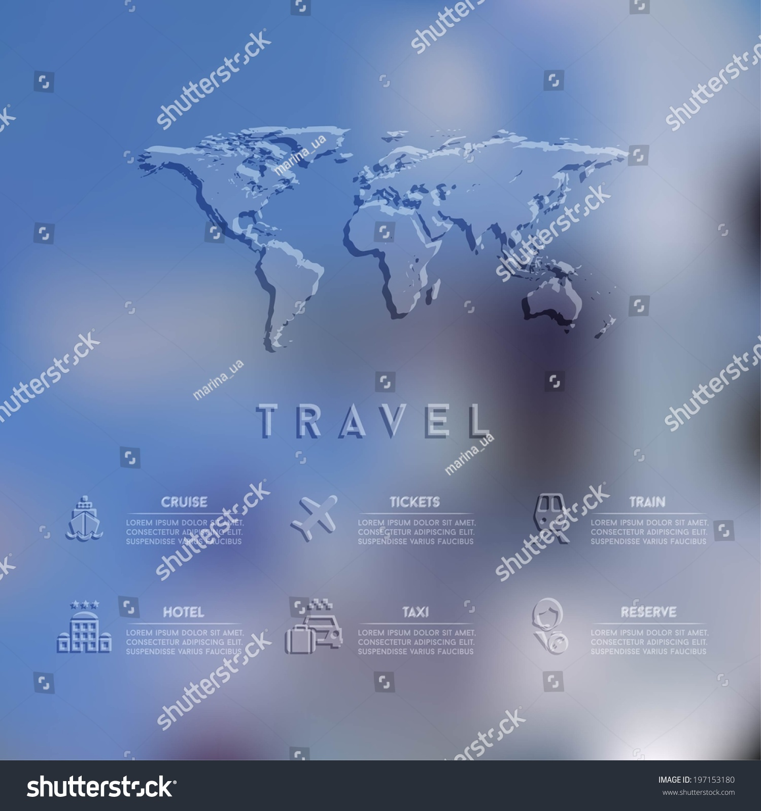 blurred unfocused background travel theme vector stock vector