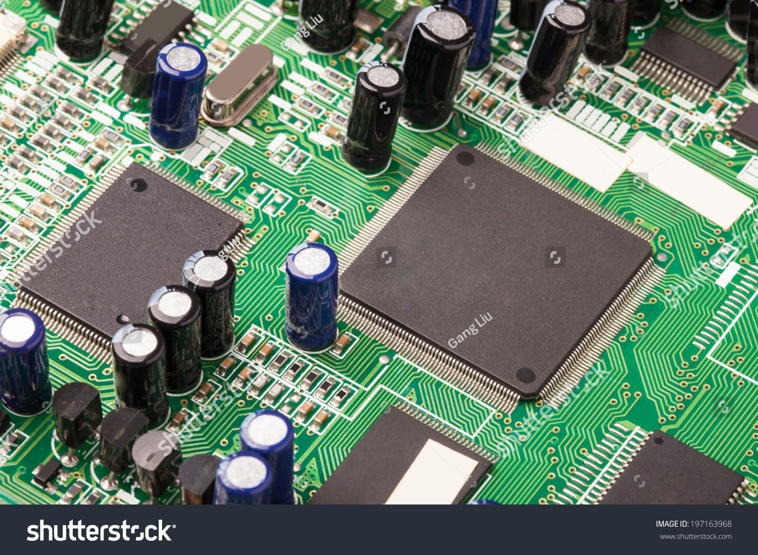 Closeup View Of Integrated Circuit Board With Components Ez Canvas Amplifier Images Id 197163968